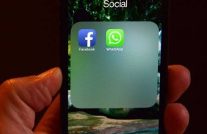 Facebook and WhatsApp icons