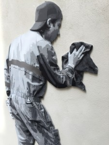 Banksy and other artists artworks