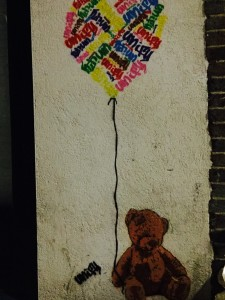 London detail: street art Teddy Bear