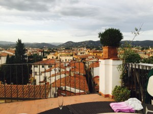 On the red roofs of Florence