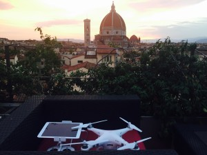 Florence Dome and a drone