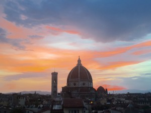 Florence Dome at sunset