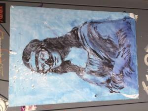 Monalisa street art version by Blub #Lartesanuotare