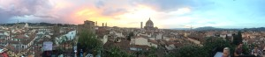 Panorama of the red roofs of Florence