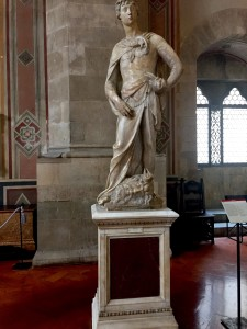 Marble David by Donatello, Bargello, Florence