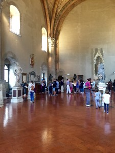 Main room at Bargello, with Davids