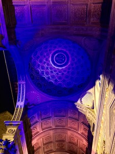 Projections and lights in Santa Croce, Florence