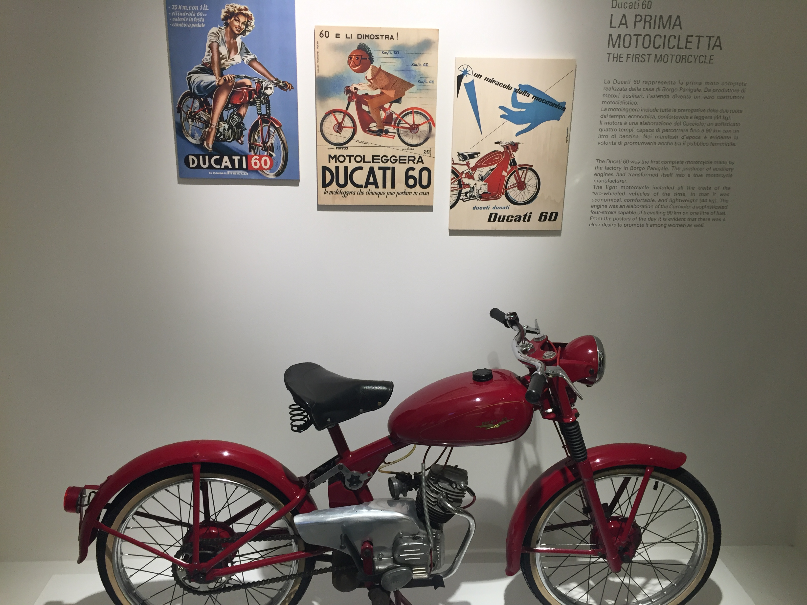 Ducati firstly produced radio tools, then motor and motorbikes