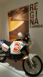 Regina d'Africa motorbike for Dakar, Museo Ducati, Borgo Panigale