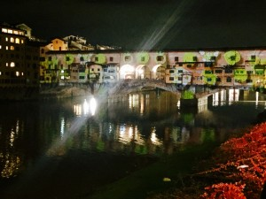 Florence flood projections at Ponte Vecchio