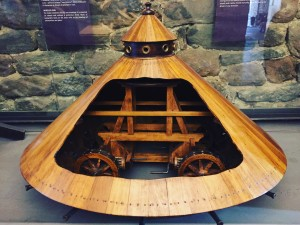 Wooden Tank model by Leonardo Da Vinci