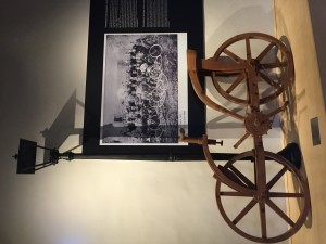 The study of wheels - wooden machines by Leonardo
